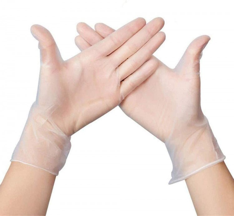 Courage Care Disposable Clear Vinyl Gloves M - 1000 Count