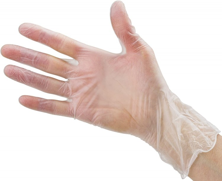Courage Care Disposable Clear Vinyl Gloves XL - 1000 Count