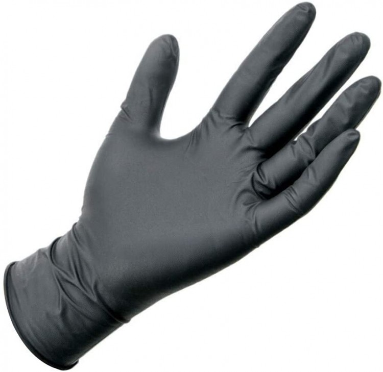 Courage Care Premium Black Nitrile Powder Free Gloves (Small) 2000 Counts